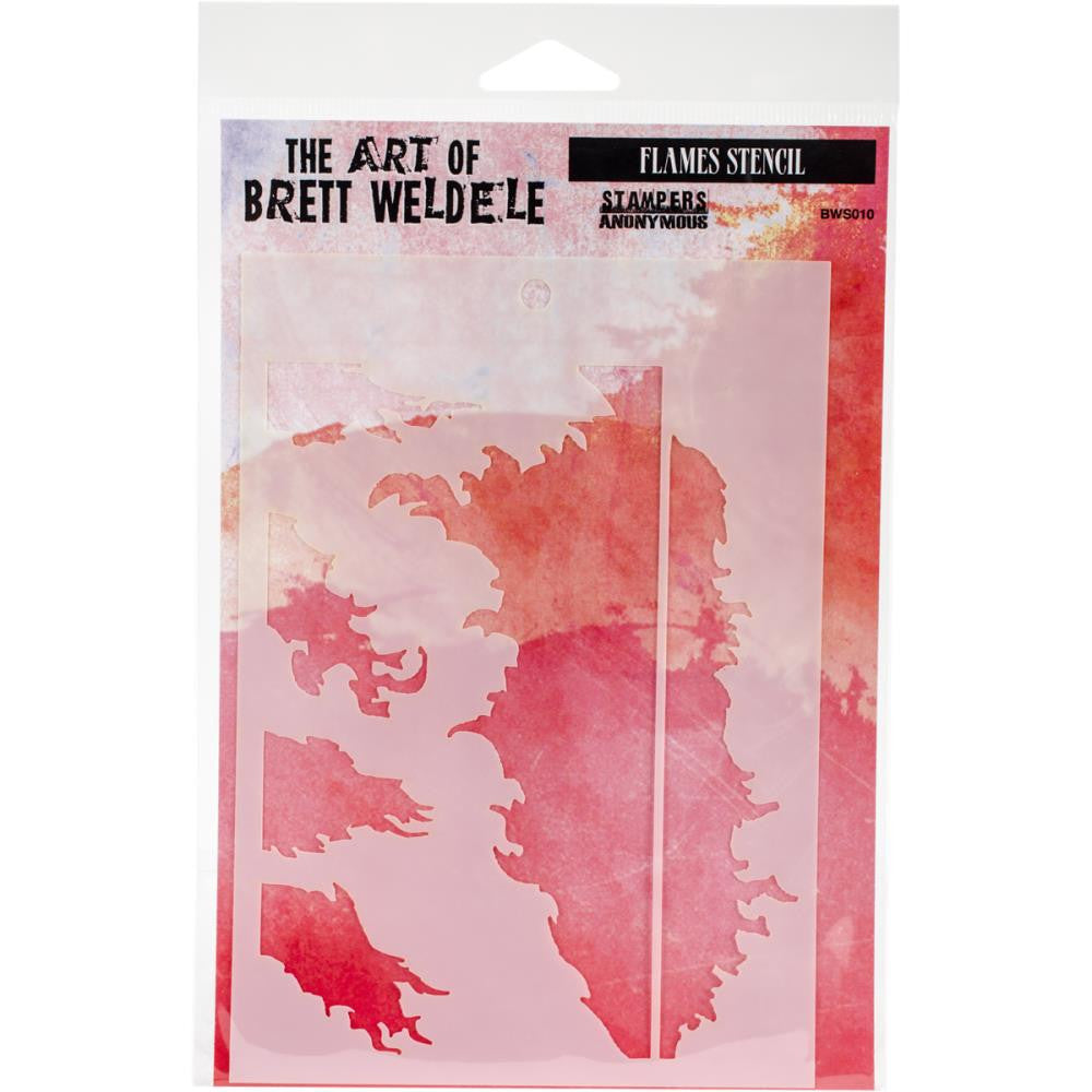 "Flames Brett Weldele Stencils 6.5""X4.5"" - Artified Shop"