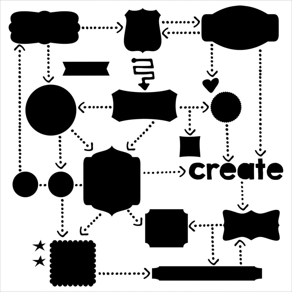 "Flow Chart Crafter's Workshop Template 12""X12"" - Artified Shop"
