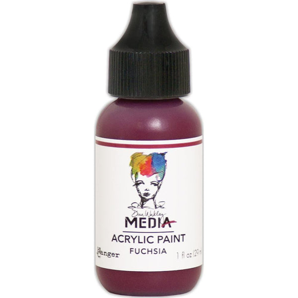 Dina Wakley Media Heavy Body Acrylic Paint 1oz - Fuchsia