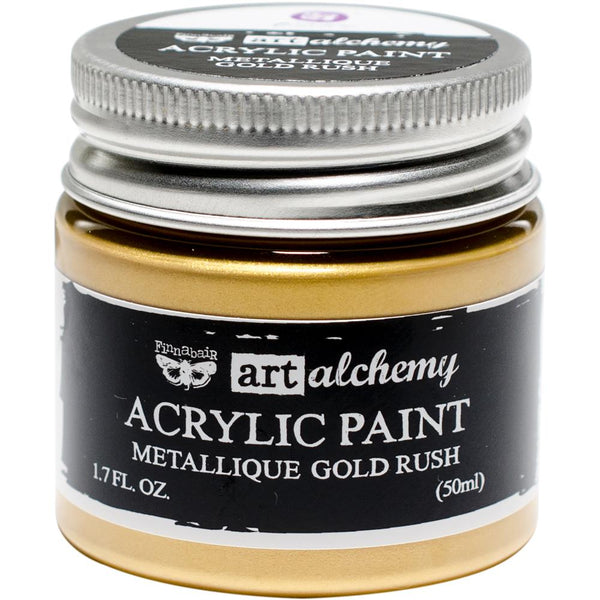 Finnabair Art Alchemy Acrylic Paint 1.7 Fluid Ounces - Gold Rush