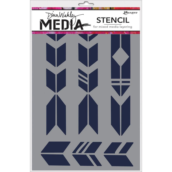 "Grande Arrows Dina Wakley Media Stencils 6""X9"""