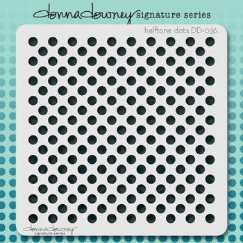 Halftone Dots Stencil - Donna Downey