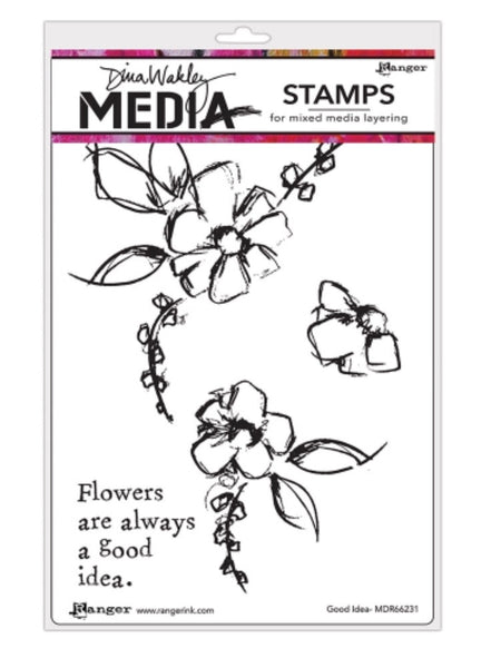 "Dina Wakley Media Cling Stamps 6""X9"" - Good Idea"
