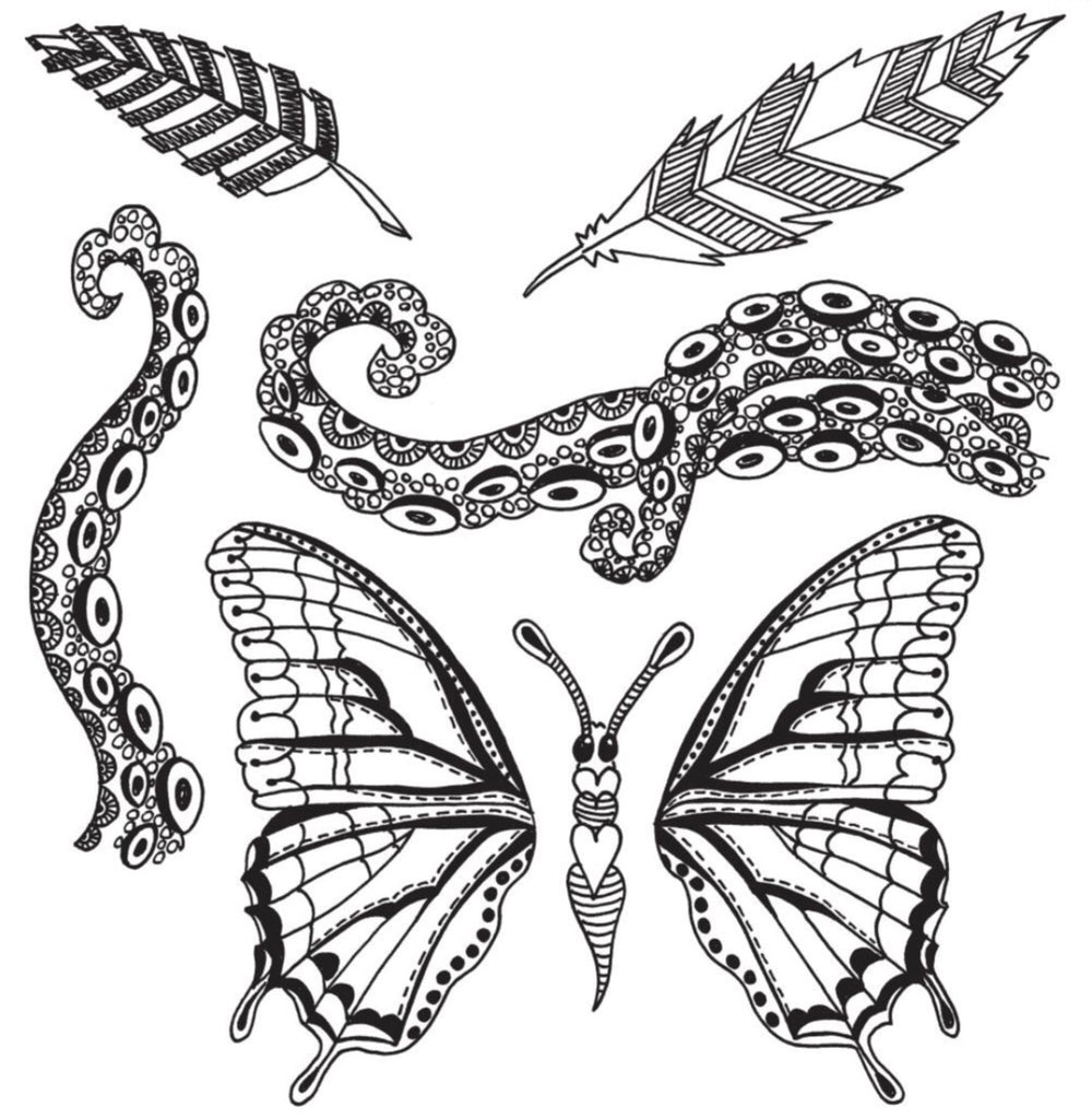 "Flight of Fancy Dyan Reaveley's Dylusions Cling Stamp Collections 8.5""X7"" - Artified Shop"