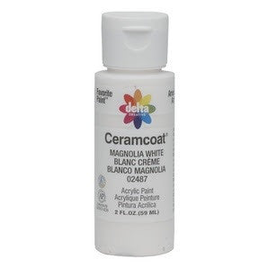Magnolia White - Opaque Ceramcoat Acrylic Paint 2oz - Artified Shop
