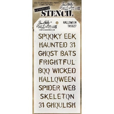 "Halloween Tim Holtz Layered Stencil 4.125""X8.5"""