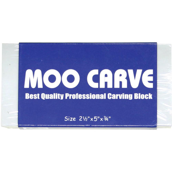 "Moo Carving Block 2.5x5"" x3/4"""