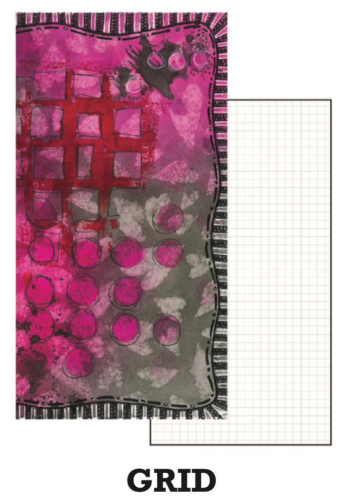 Dyan Reaveley's Dylusions Dyalog Insert Book Grid - Artified Shop
