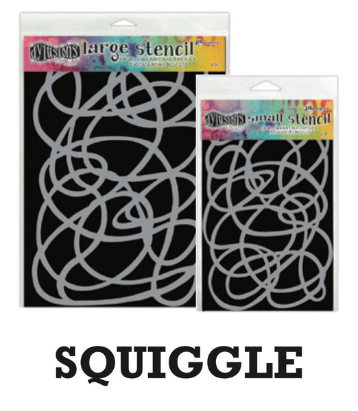 "Dyan Reaveley's Dylusions Stencils 9""X12"" - Squiggle - Artified Shop"