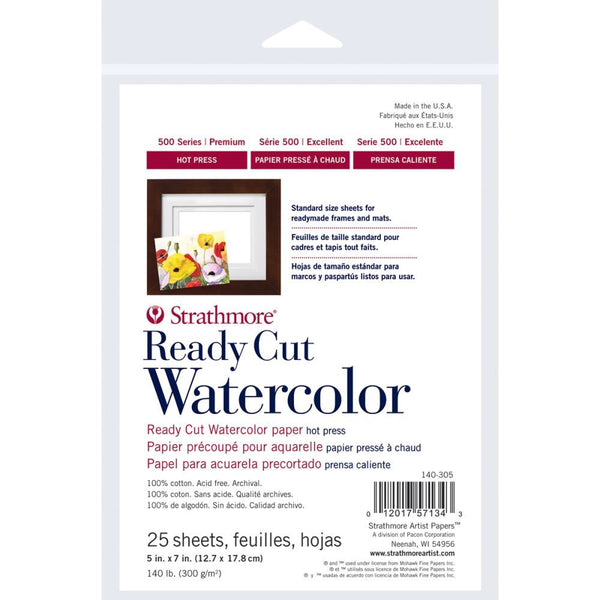 "Strathmore Watercolor Paper Pack 5""X7""(Hot Press) - Artified Shop"