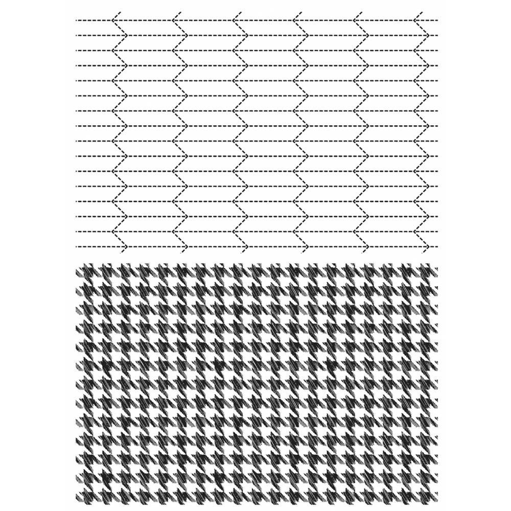 "Tailor & Houndstooth Tim Holtz Cling Stamps 7""X8.5"" - Artified Shop"