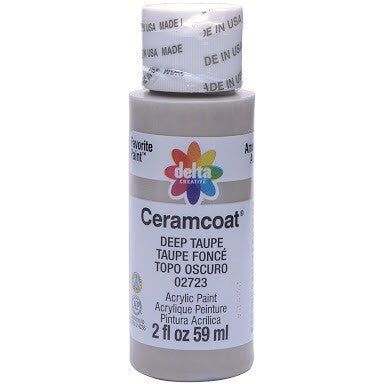 Deep Taupe Opaque Ceramcoat Acrylic Paint 2oz - Artified Shop