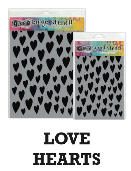 "Dyan Reaveley's Dylusions Stencils 9""X12"" - Love Hearts - Artified Shop"