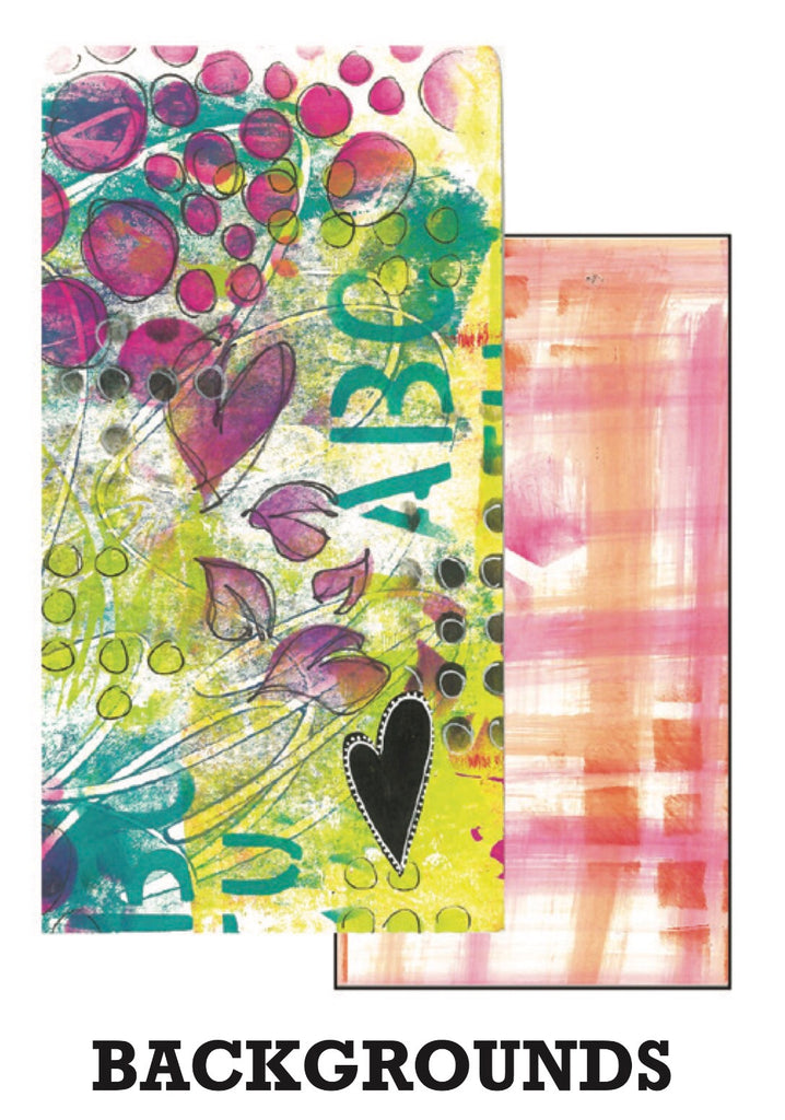 Dyan Reaveley's Dylusions Dyalog Insert Book Backgrounds - Artified Shop