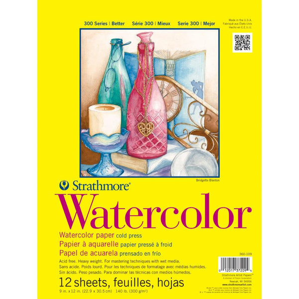 "Strathmore Watercolor Paper Pad 9""X12"" - Artified Shop"