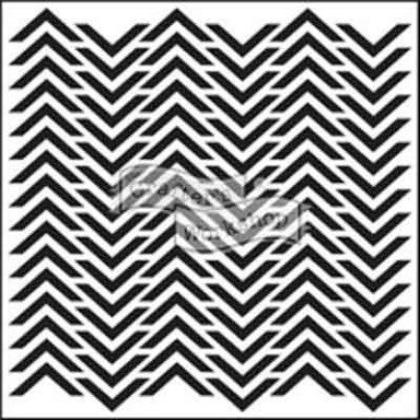 6x6 TCW Stencil - Mini Chevron - Artified Shop