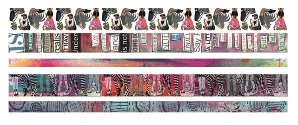 Dyan Reaveley's Dylusions Washi Tape Set Set #1 - 5 Rolls - Artified Shop