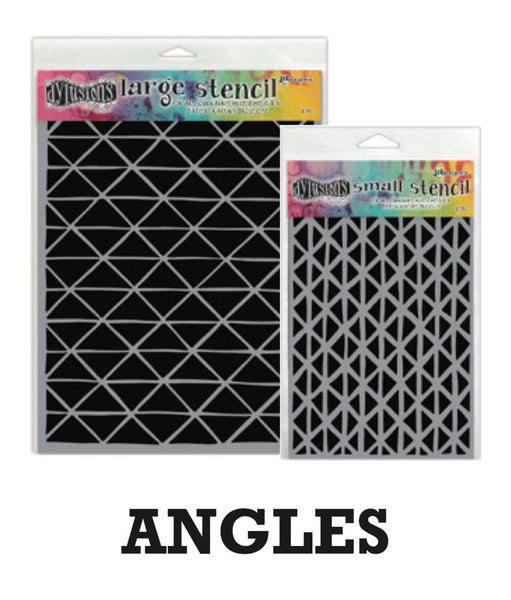 "Dyan Reaveley's Dylusions Stencils 9""X12"" - Angles"