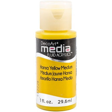 Hansa Yellow Medium Media Fluid Acrylic 1oz - Artified Shop