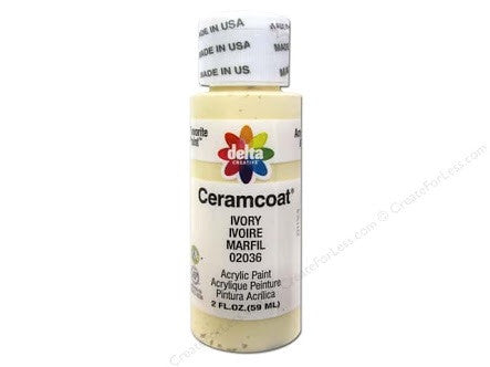 Ivory - Opaque Ceramcoat Acrylic Paint 2oz - Artified Shop