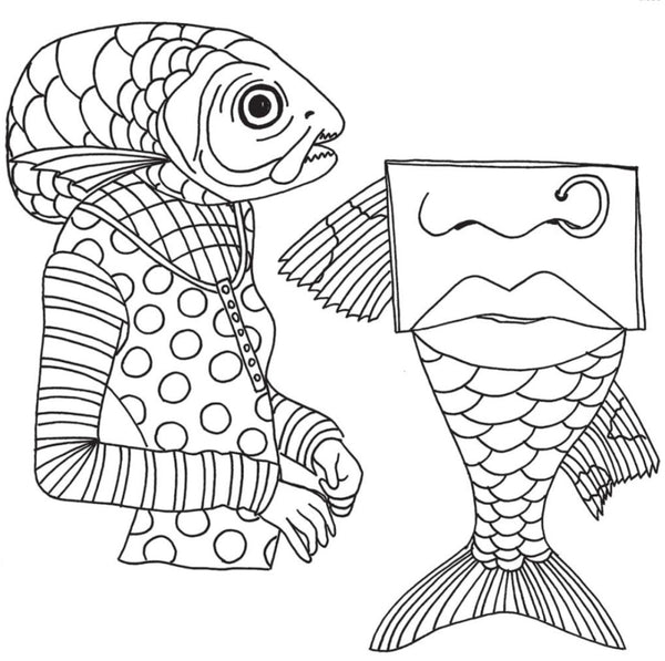 "Fish Face Dyan Reaveley's Dylusions Cling Stamp Collections 8.5""X7"" - Artified Shop"
