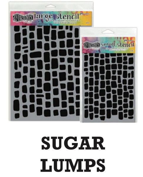 "Dyan Reaveley's Dylusions Stencils 5""X8"" - Sugar Lumps"