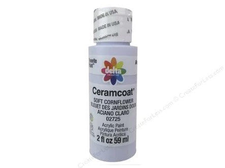 Soft Cornflower - Opaque Ceramcoat Acrylic Paint 2oz - Artified Shop
