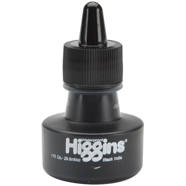 Higgins India Ink 1oz - Matte Black - Artified Shop