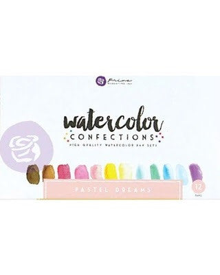 Pastel Dreams - Prima Marketing Watercolor Confections Watercolor Pans 12/Pk - Artified Shop