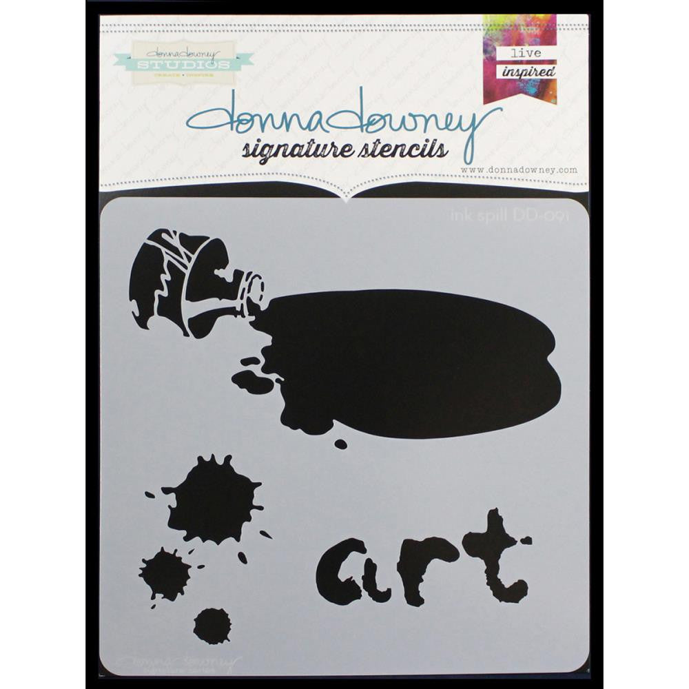 "Ink Spill Donna Downey Signature Stencils 8.5""X8.5"" - Artified Shop"