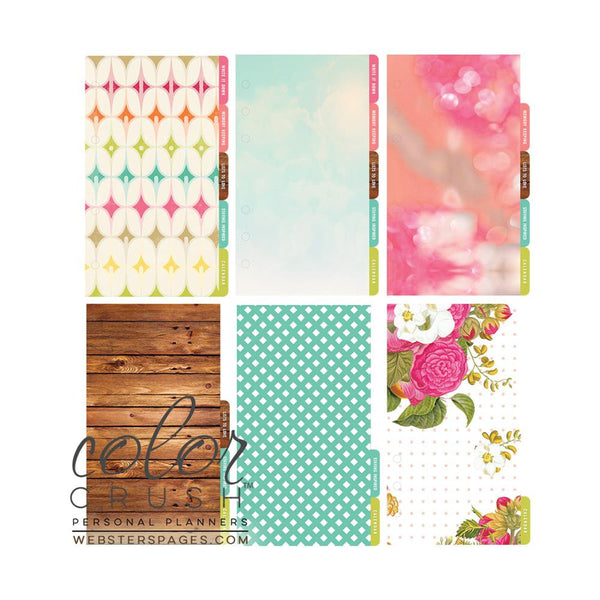 In Love with Life Color Crush Personal Planner Divider Set Kit