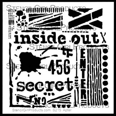 "Inside Out Stencil - 6x6"" - Artified Shop"