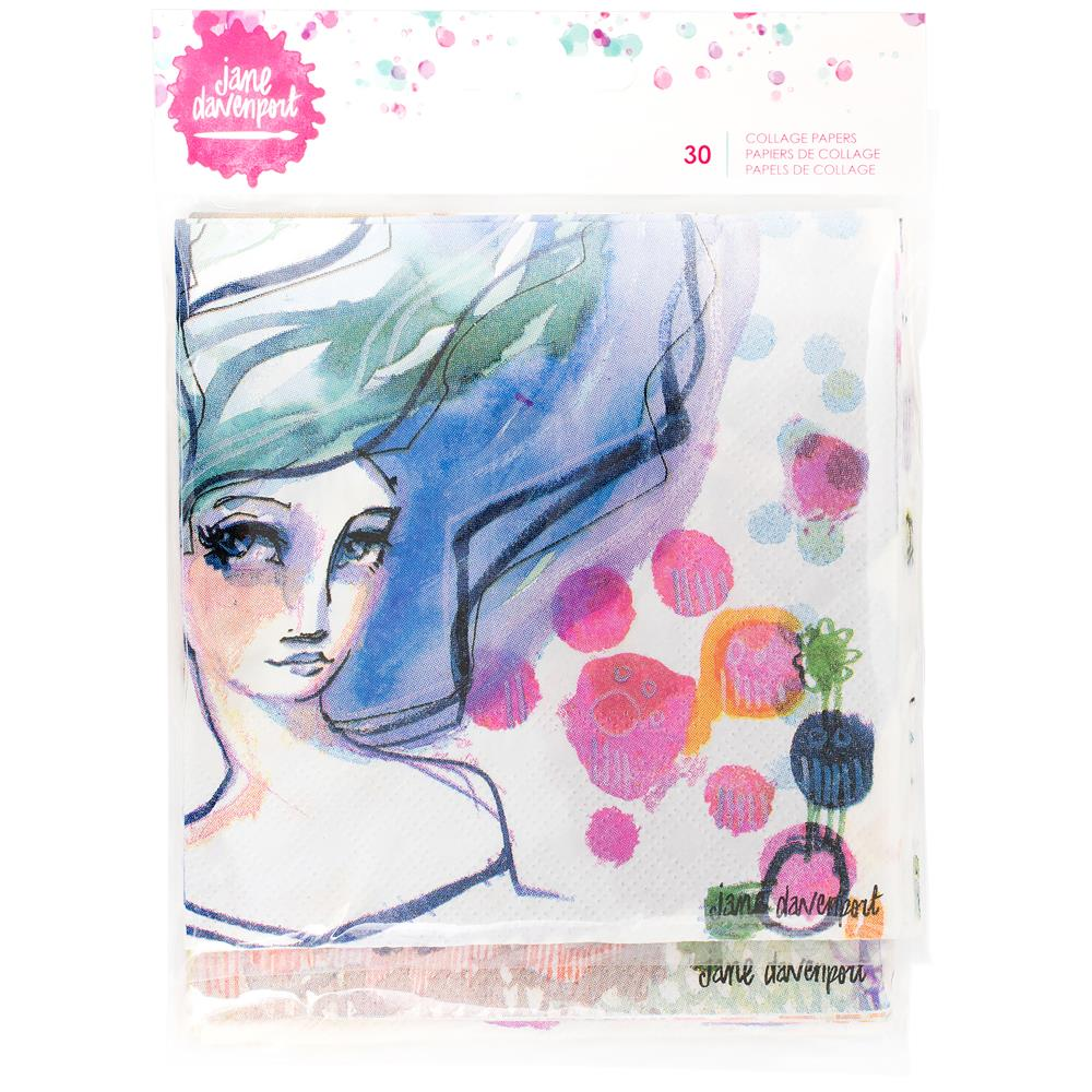 Jane Davenport Mixed Media 2 Napkin Collage Paper 30/Pkg - Artified Shop