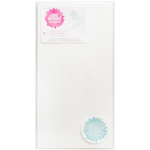 Jane Davenport Butterfly Effect Paper Inserts 4/Pkg - Watercolour