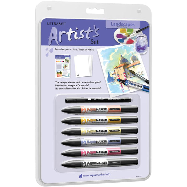 Landscapes - Letraset Aquamarker Artist's Sets 6/Pkg - Artified Shop