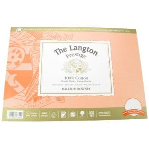 LANGTON PRESTIGE WATERCOLOUR PAPER-BLOCK 9x12 HP - Artified Shop
