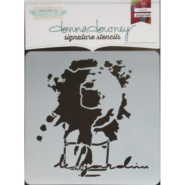 "*Le Jardin Donna Downey Signature Stencils 8.5""X8.5"" - Artified Shop"