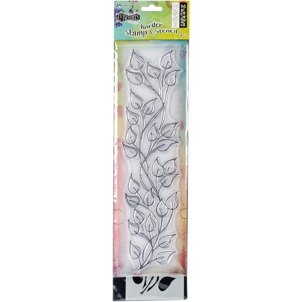 "Dyan Reaveley's Dylusions Clear Stamp & Stencil Set 9"" - Leaf (small) - Artified Shop"