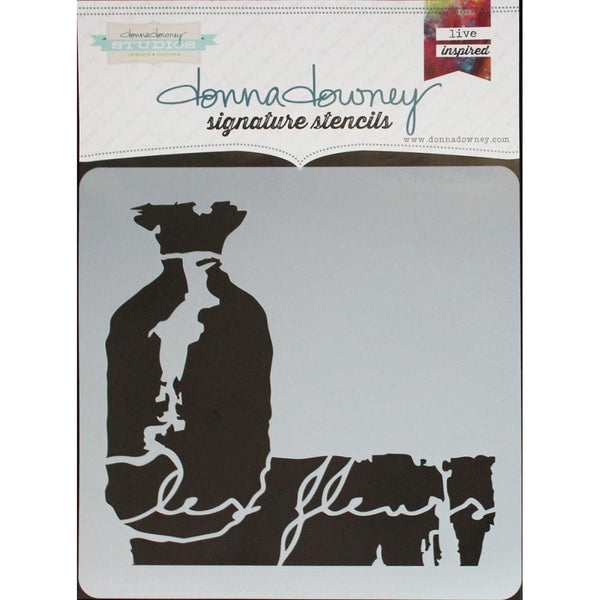 "*Les Fleurs Donna Downey Signature Stencils 8.5""X8.5"" - Artified Shop"