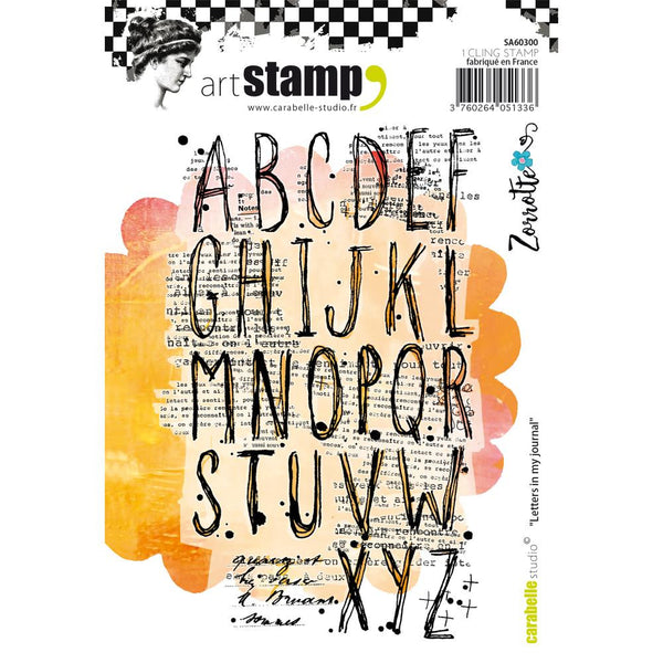 Letters in my Journal Carabelle Studio Cling Stamp A6