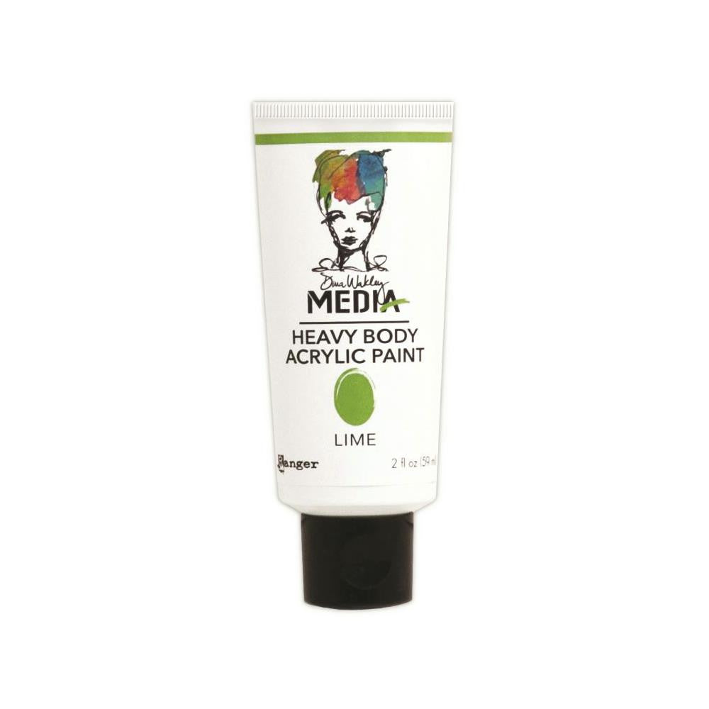Dina Wakley Media Heavy Body 2oz Acrylic Paints - Lime