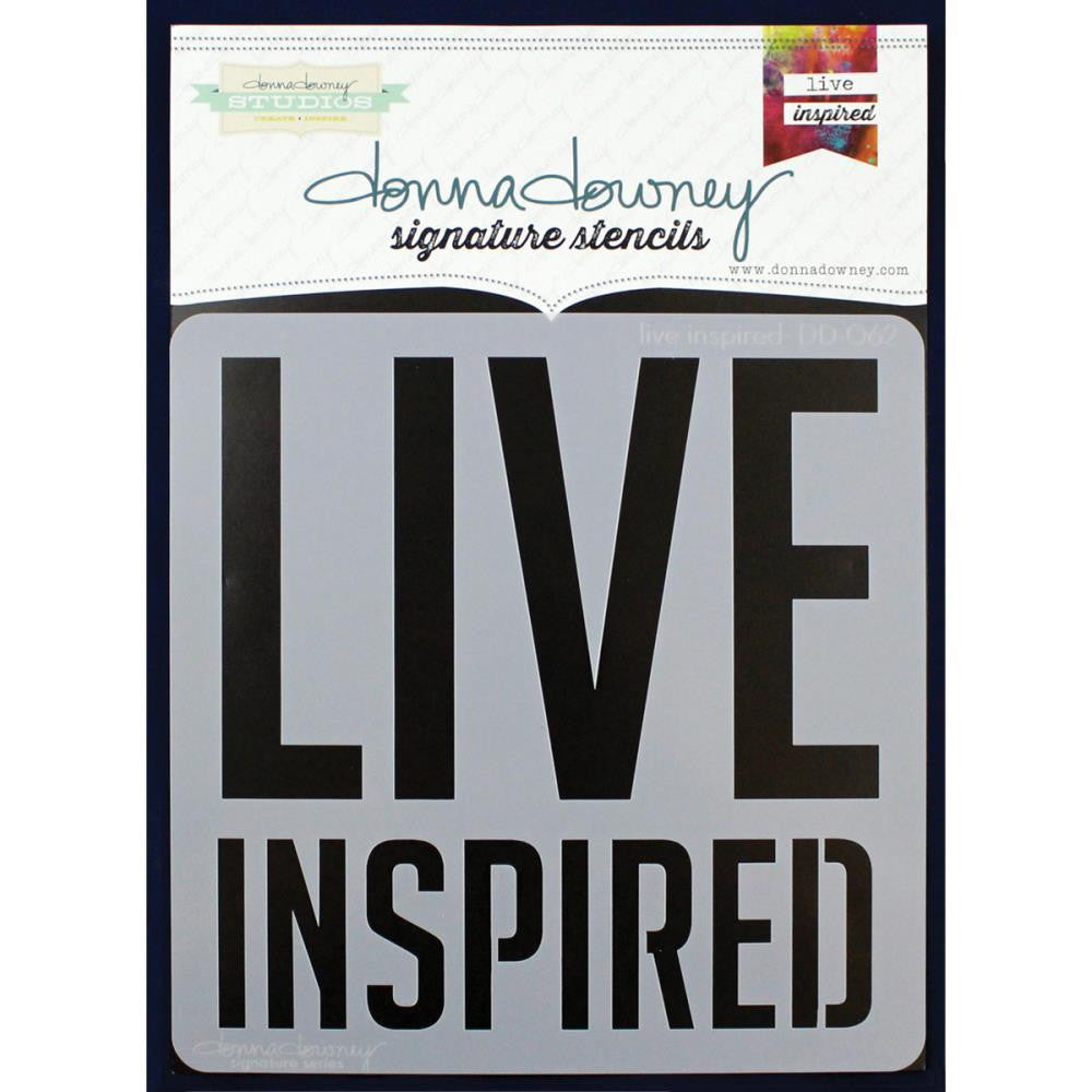 "Live Inspired Donna Downey Signature Stencils 8.5""X8.5"""