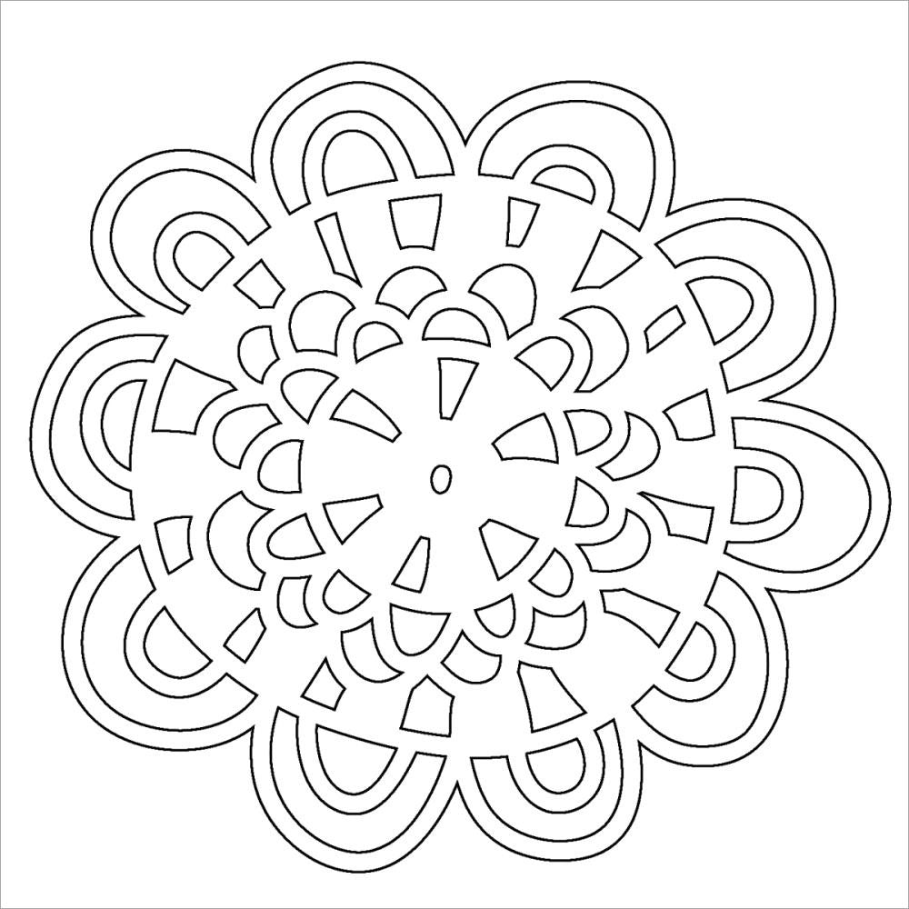 "Loopy Flower Crafter's Workshop Fragments Templates 4""X4"" - Artified Shop"