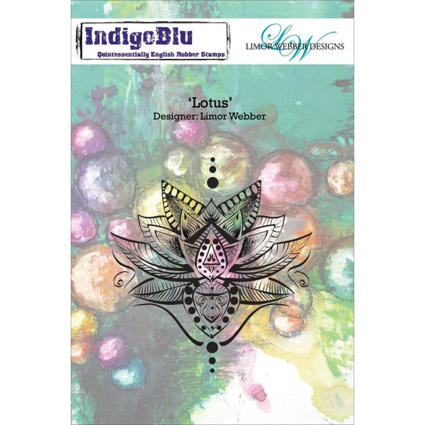 "Lotus (Limor Webber Designs) IndigoBlu Cling Mounted Stamp 5""X4"""