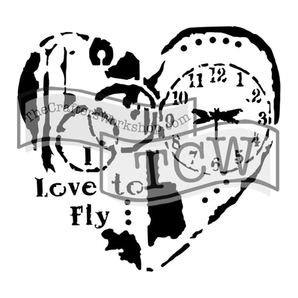 "Love to Fly Crafter's Workshop Template 6""X6"""