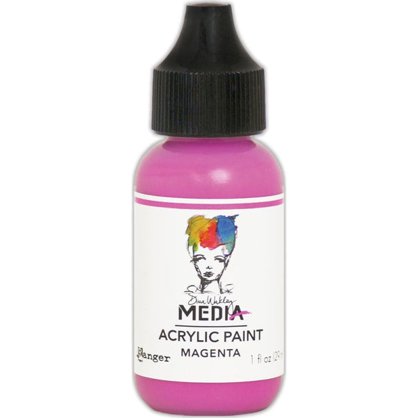 Dina Wakley Media Heavy Body Acrylic Paint 1oz - Magenta