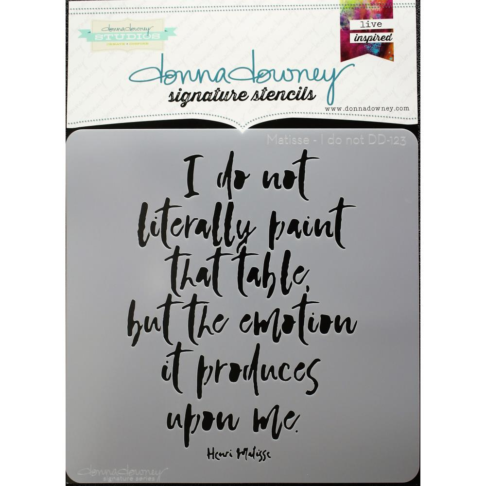 "Matisse I Do Not Donna Downey Signature Stencils 8.5""X8.5"" - Artified Shop"