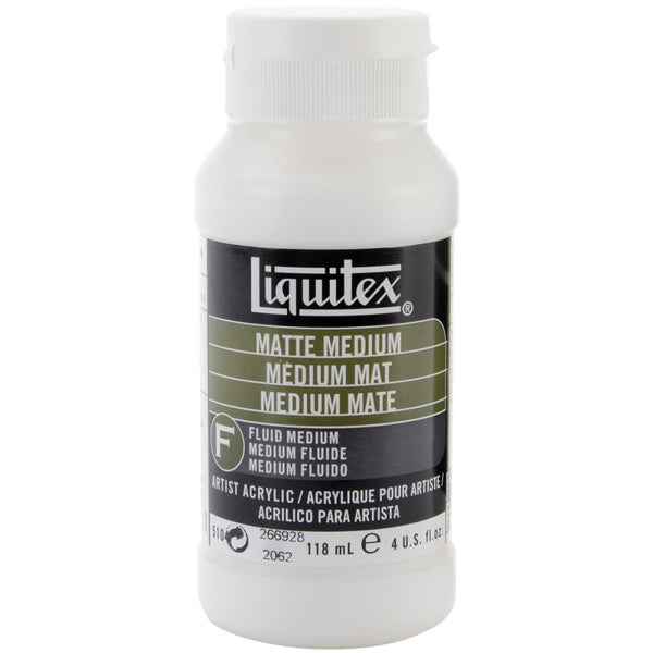 Liquitex Matte Acrylic Fluid Medium - 4oz - Artified Shop
