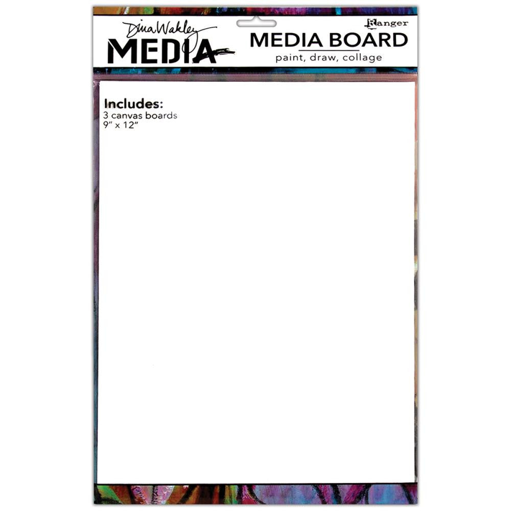 "Dina Wakley Media Board 9""X12"" - 3 panels"