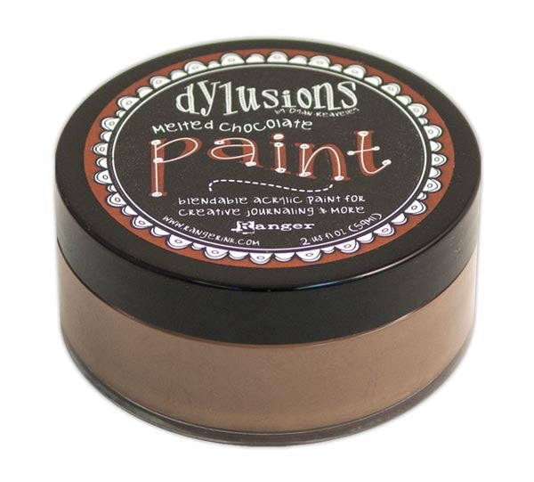 Melted Chocolate Dyan Reaveley's Dylusions Paint 2oz - Artified Shop